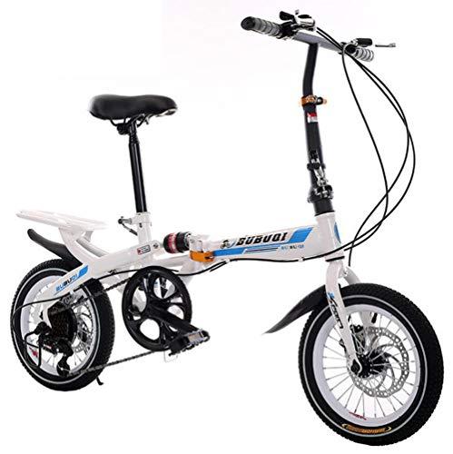 """TX Bicicleta Eléctrica 48V10A Eléctrico 20""""4,0 Neumático De Grasa De La Bici Plegable De Aluminio 350 W Potente Eléctrico Bicicleta De Montaña/Nieve/Playa Una Rueda,Blue,14inch"""
