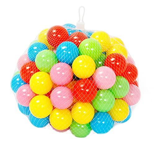 TOYANDONA 50 Unidades de Bolas de Plástico para Niños Bolas de Océano para Niños Bolas de Trampolín Redondas para Bebés Bolas de Plástico para Niños (Color Aleatorio)
