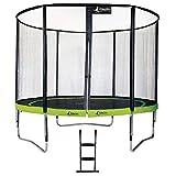 Kangui - Trampoline de Jardin Rond 305 cm + Filet de sécurité + échelle PUNCHI Vert 300