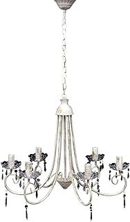 Lámpara colgante de cristal de techo Araña blanco 5 portalámparas