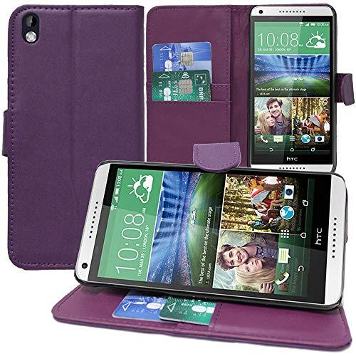 Annart Schutzhülle für HTC Desire 816/816G Dual Sim, Brieftasche, Klappetui für HTC Desire 816/816G Dual Sim, Violett