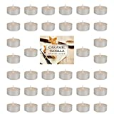 Home Traditions Highly Scented Tealight Candle (Pack of 36) For Home Décor, Wedding, Party, Holiday, Spa & Aromatherapy - Caramel Vanilla