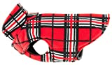 RC Pet Products Whistler Winter Wear V.2 Fleece Dog Coat, Size 12, Red Tartan