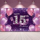 Sumind Geburtstag Hintergrund Banner Happy 15th Birthday