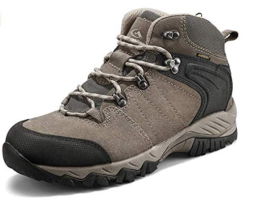 Clorts Men's Hiking Boot Waterproof Lightweight Backpacking Trekking Trail Shoes Brown1 HKM822G US9.5