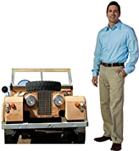 3 ft. 4 in. Jungle Safari Jeep Vehicle Cardboard Cutout Standee Standup Photo Op Party Supplies Decorations Decor Backdrop Background