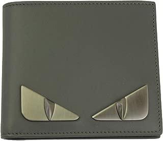 Bugs Eye Men's Gray Leather Bi-fold Wallet 7M0169 SQP