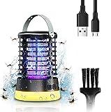 SGAINUL Insektenvernichter, Elektrischer Insektenzapper IPX6 Wasserdicht, Insektenfalle Mückenlampe mit Bürste und 3 Arten von Helligkeit, USB Mückenvernichter für Hausgarten/Innen/Außen/küche/