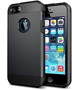 TechExpert Coque Etui Antichoc Armor pour Iphone 5 5S Se (2015) Noir Coussin d'air