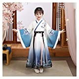 LUOSI Disfraz de hanfu de otoño e invierno de estilo chino para niñas, vestido de hada, traje de tanga, ropa de niña y mujer (color: estilo B, tamaño: 120 cm)