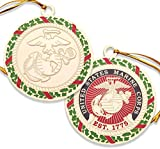 USMC Ornament - Marine Corps Christmas Ornament - US Marines US Marine Corps Christmas Tree Ornament - Officially Licensed Product - Designed by Marines for Marines!
