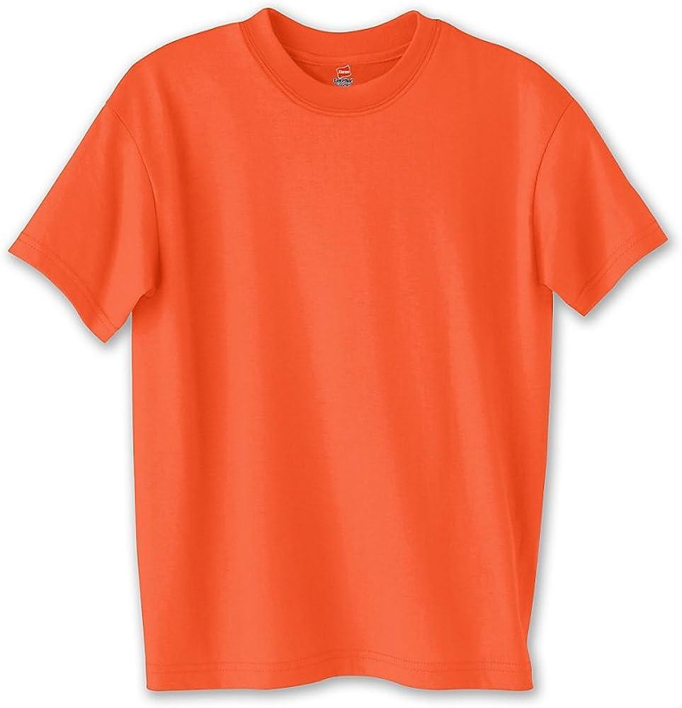 Hanes Boys ComfortBlend EcoSmart Crewneck(5370)-Orange-XS