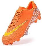 ailishabroy Chaussures de Football Garçon High Top Spike Crampons Professionnel Antidérapant Athlétisme Entrainement Chaussures de Sport Homme
