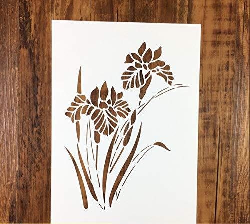 Zzooi Orchidee Blume Schablone Hohl von Narzissen Schablone für DIY Geschenke DIY Hemden DIY handgemachte Wandmalerei