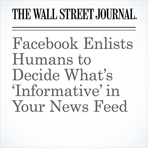 Facebook Enlists Humans to Decide What's 'Informative' in Your News Feed cover art