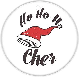 Makoroni - Cher Female Name Christmas Ornament (Round Shape) - Round Holiday Christmas Baby Shower Wedding Ornament