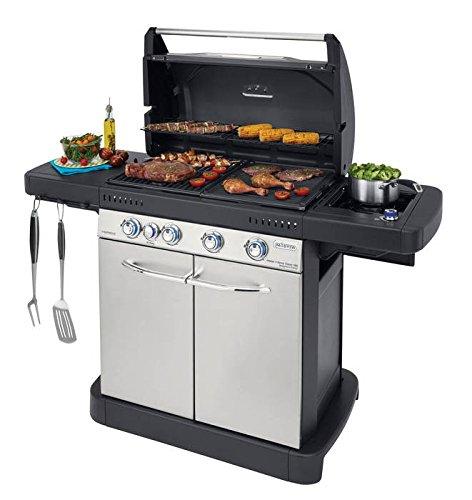 Barbecue à gaz grill-four sur chariot en acier 10 à 16 personnes - 4 niveaux