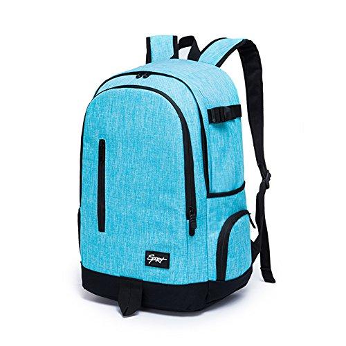 Ricky-H Lifestyle College School Backpack,Women, Men's Travel Bag-Denim Sky Blue