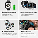 V2A EVOC 1.78 inch High Resolution Full Touch IP68 Waterproof ECG Heart Rate Blood Pressure Oxygen Monitor Multi Sports Men Women Smart Watch for iPhone Samsung Android (Silicon-Grey)