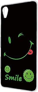 [FFANY] Xperia Z5 (SO-01H・SOV32・501SO) ハードケース スマホケース [スマイル・グリーン] smile 缶バッチロゴ ニコちゃん ウインク エクスペリア ゼットファイブ スマホカバー 携帯ケース black...