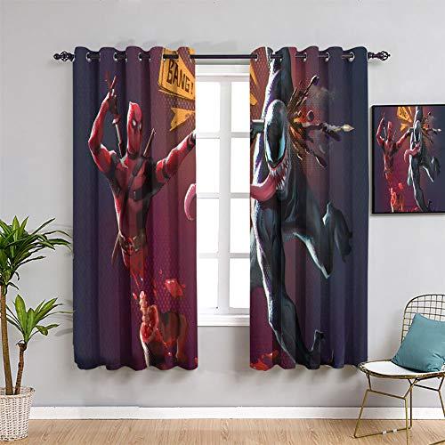 Elliot Dorothy Rideaux isolants Deadpool vs Spiderman pour chambre de garçon 107 x 160 cm