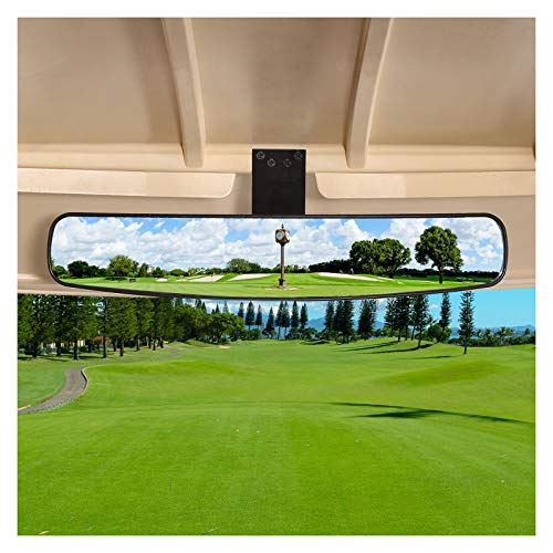 """10L0L New Golf Cart Rear View Mirror, 16.5"""" Extra Wide 270 Degree Panoramic Rear View Mirror for EZGO, Club Car, Yamaha"""