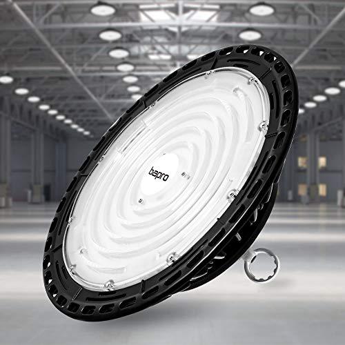 300W LED Strahler Industrielampe, bapro UFO LED Werkstattlampe 30000LM Hallenstrahler, IP65 Wasserdichte 120°Abstrahlwinkel Hallenbeleuchtung 6500K, Lampen LED High Bay Licht für Garage Industrie