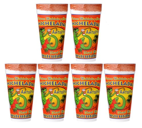 6-Pack Antojitos Micheladas Mix 24oz Cup Ready to Use