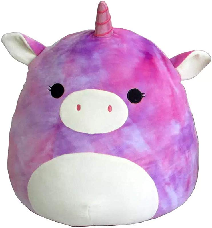 Squishmallow Original Kellytoy 8 Tie Dye Rainbow Unicorn Plush Toy Pillow Pet Animal Pillow Pal Buddy Theo The Unicorn