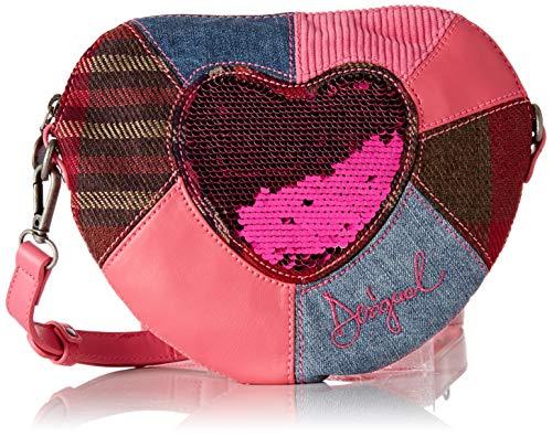 Desigual Mädchen Bag Heart Girl Handtasche, Pink (Rosa), 20 x 4 x 24 cm