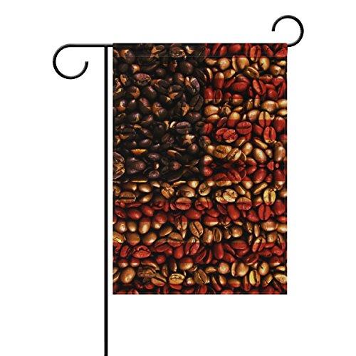 ALAZA USA-amerikanische Flagge Kaffeebohnen Dekorative Doppelseitige Garten Flagge
