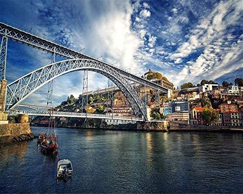 YUMUYAO Puzzle per Adulti 1000 Pezziporto Superior River, Portogallo Puzzle per Bambini Giocattoli Puzzle Educativi Puzzle