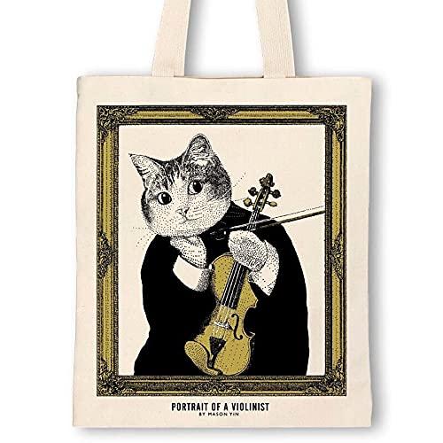 【バイオリン】クラシックキャットトートバッグ Some Music Design 音楽雑貨