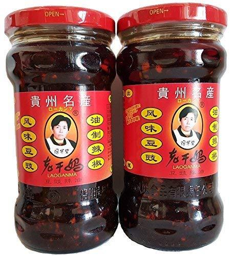 2本セット 老干媽 風味豆鼓 (豆豉トウチ 油制辣椒) ラー油 中国名産 人気商品 280g x 2本