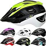 SkullCap® Casco Bici MTB - Uomo e Donna - con Visiero, Taglia L (59-61 cm), Colore: Neon ...