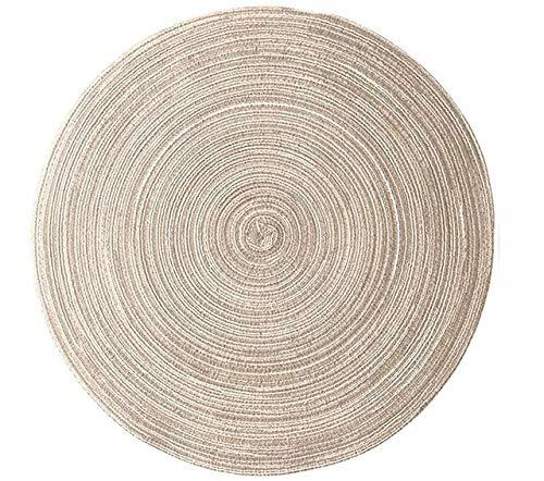 SHIM Tessitura tavola Rotonda tappetini cucine Calore Freno Resistente Sistema antibloccaggio Tabella Mat dal Momento Che Una Foto 11 Centimetri