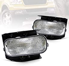 YUANZHENG Fog Lights Compatible with [Ford F150 F250 1999-2003 (XL,XLT Lariat Model, NOT for STX ED) Expedition 1999-2002 (XL, XLT Lariat Model, NOT for STX) ] with H10 12V 42W Bulb YFL-F15-0021, 2PCS