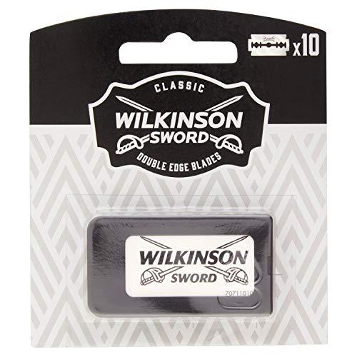 Wilkinson Sword Classic PREMIUM - Recambios de 10 Hojas de Cuchillas de Afeitar para Hombres , Afeitado Clásico Masculino , Doble Filo