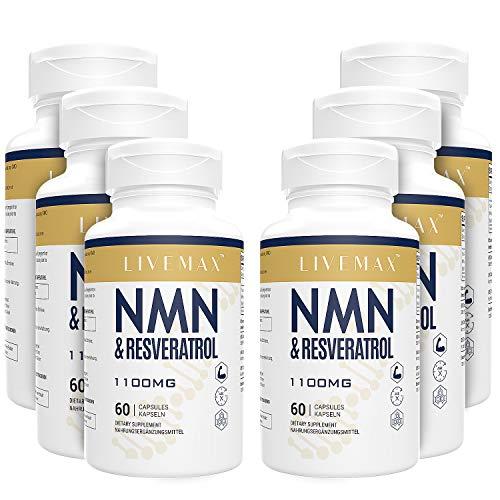 NMN+Resveratrol 360 Kapseln, leistungsstarke Antioxidantien-Ergänzung für Herzgesundheit & Anti-Aging, angereichert mit schwarzem Pfefferextrakt für höhere Absorption