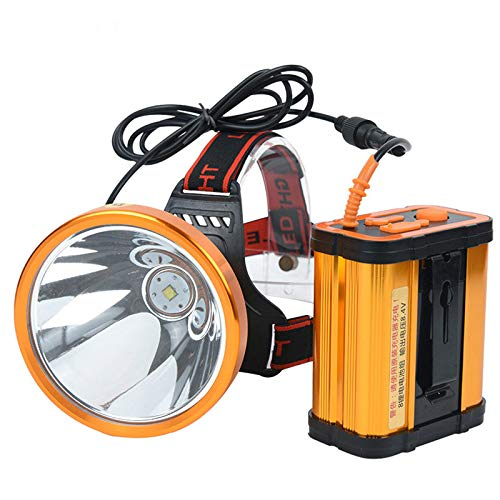 whbage Lampe Frontale LED Headlamp White Or Yellow Light Optional Built-in Battery Outdoor Camping Hunting Headlight