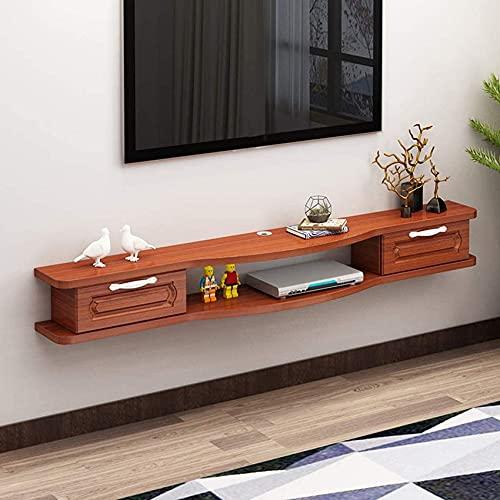 Muebles para el hogar Estante flotante Soporte para centro de entretenimiento Soporte para TV Rack montado en la pared Consola multimedia Estante para componentes Soporte para TV Estante de pared c