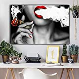 hahastore Frauen mit Feuer Geld Leinwand Malerei Plakate und Drucke Skandinavische Wandkunst Bilder für Wohnzimmer Ideen kreative Wohnkultur 50x70cm (kein Rahmen)