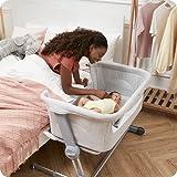 Unilove Hug Me Plus 3-in-1 Baby Bassinet, Adjustable Bedside Co Sleeper, Portable Travel Cosleeping Bed, Newborn...