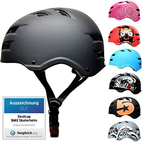 SkullCap BMX & Casco per Skater Casco - Bicicletta & Monopattino Elettrico, Design: Dark World, Taglia: S (53-55 cm)