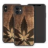 Handyhülle Weed für iPhone Apple Silikon MMM Berlin Hülle Gras Marihuana Cannabis Hanf, Kompatibel mit Handy:Apple iPhone XS Max, Hüllendesign:Design 3 | Silikon Schwarz