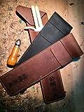 Kendo24 Fahnentasche KOUMEI | Die Tasche für Deine Kampfrichterfahnen | Handgefertigte Ledertasche | Echtem Leder Farbe schwarz