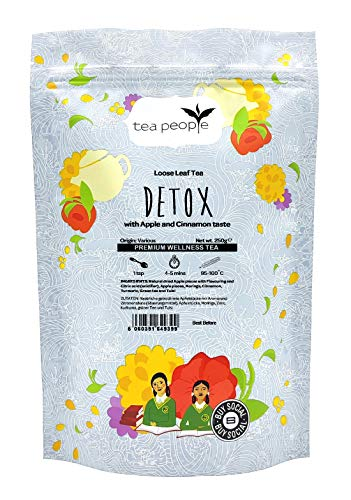 Tea People Detox, Loose Leaf Herbal Tea in A Resealable Pouch, 250 g