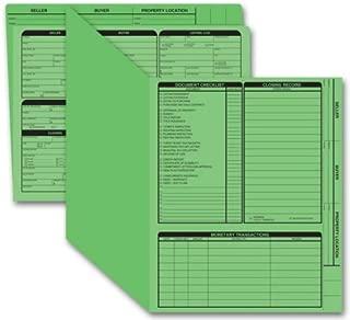 EGP Real Estate Folder, Right Panel List, Letter Size, Green, 50 Folders