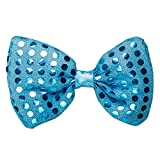 Mammoth Sales LED Light Up Flashing Sequin Bow Ties Tie (Blue)
