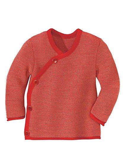 Disana 32535XX - Melange-Jacke Wolle rot/rose (62/68)